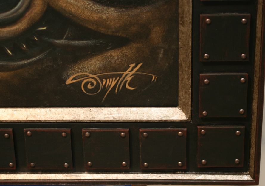 """The English Eye of Rembrant 1890""   frame detail"