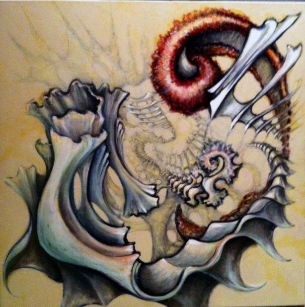 """""""BioOragami""""  oil on canvas"""
